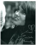 Caroline Munro signed 10 by 8 star of Dracula, Sinbad, Bond #13